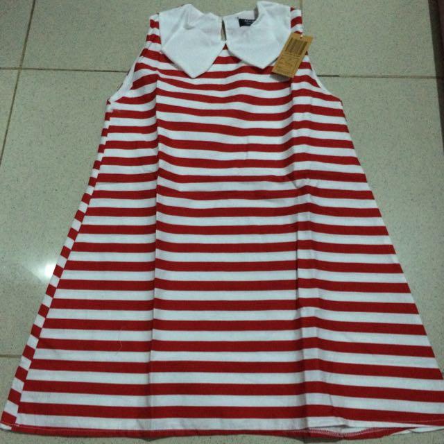 Dress Anak Garis Merah