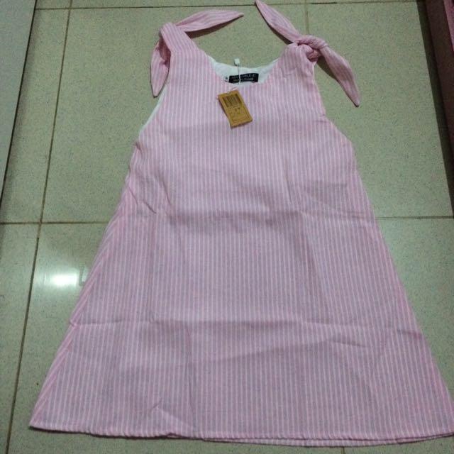 Dress Anak Garis Pink