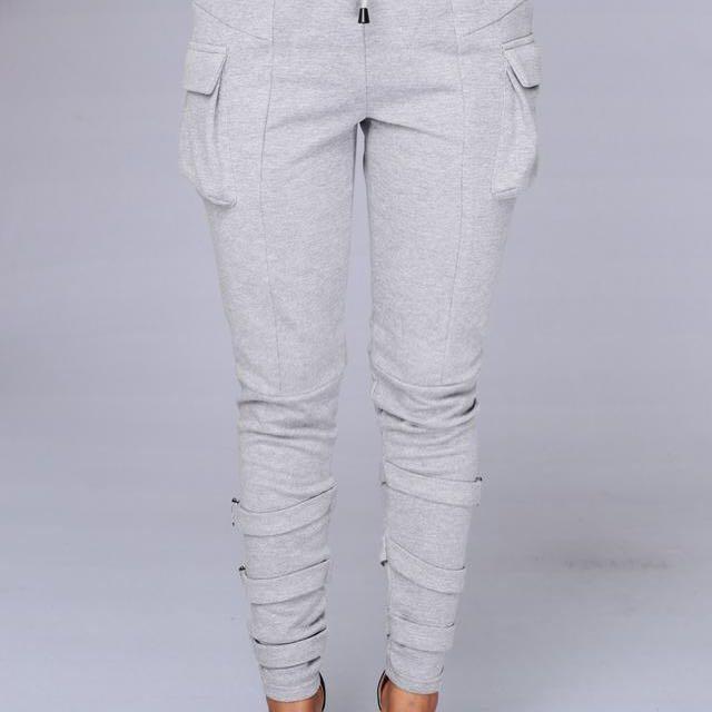 FashionNova Grey Tracksuit Pants