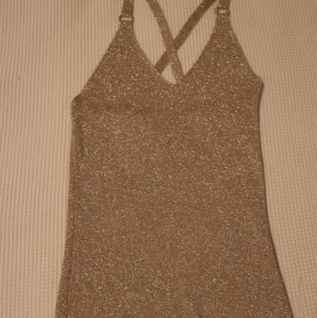 Gold Sparkly Singlet Top