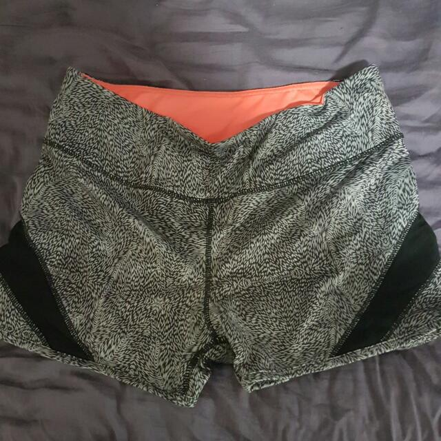 Grey Workout Shorts With Mesh Sides