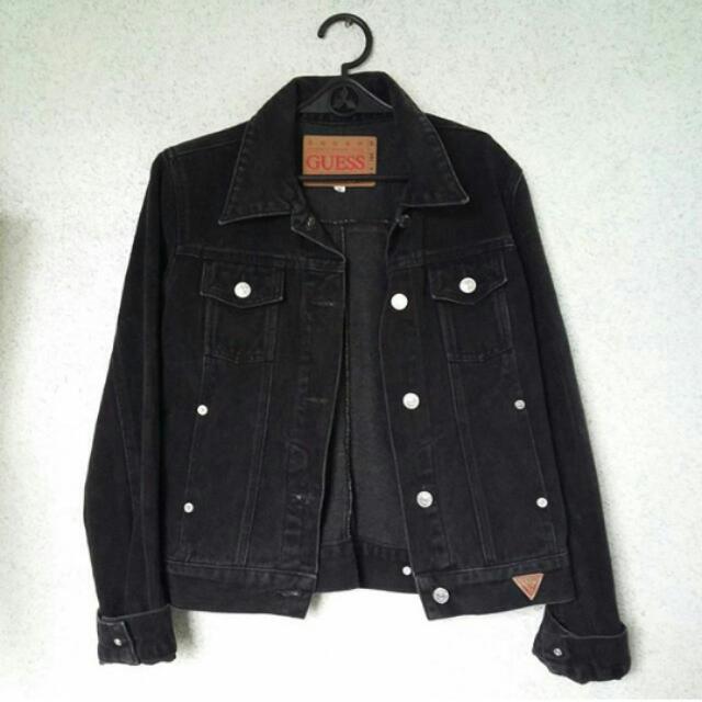 Guess Denim Faded Black Jacket