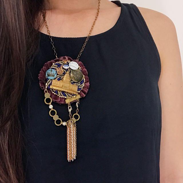 Handmade Vintage Necklace Clip Pin