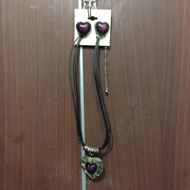 Heart Necklace & Earings (Set)