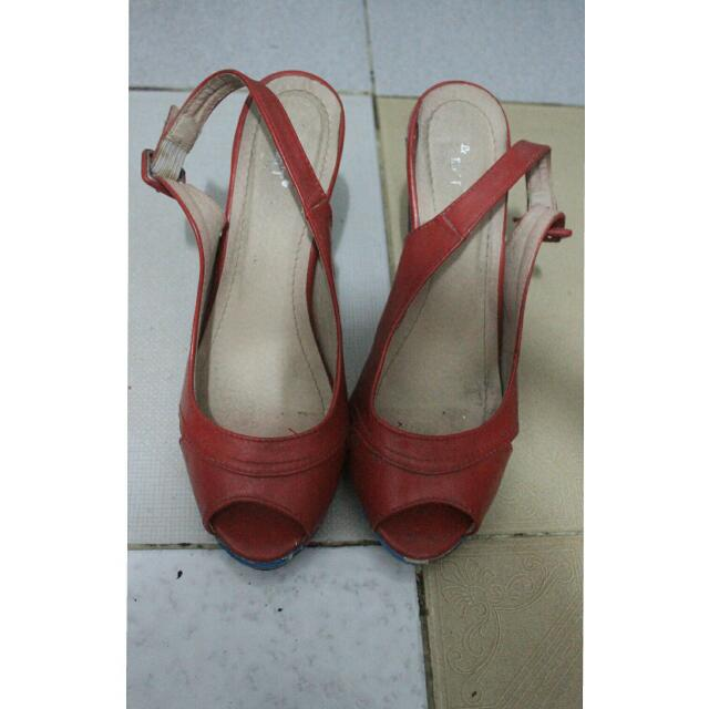 Heel Shoes Red