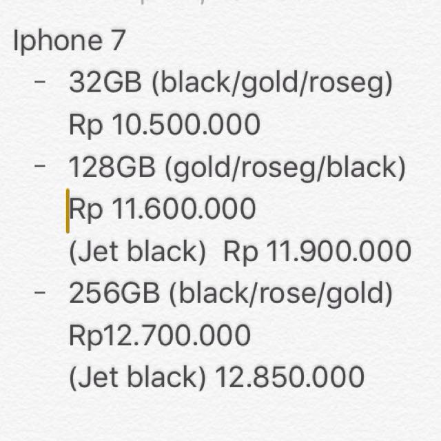 Iphone 7 Dan 7 Plus Original