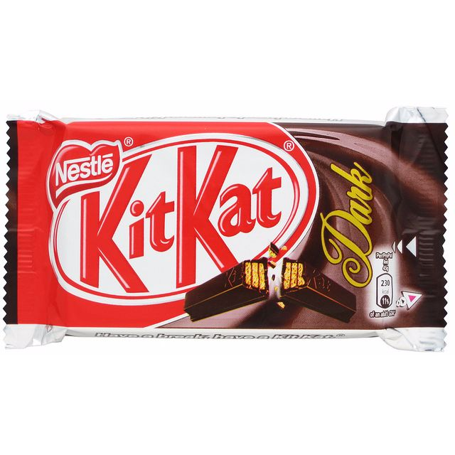 Kit Kat 4 Fingers Dark Chocolate / Made in UK / Kitkat Dark Choco