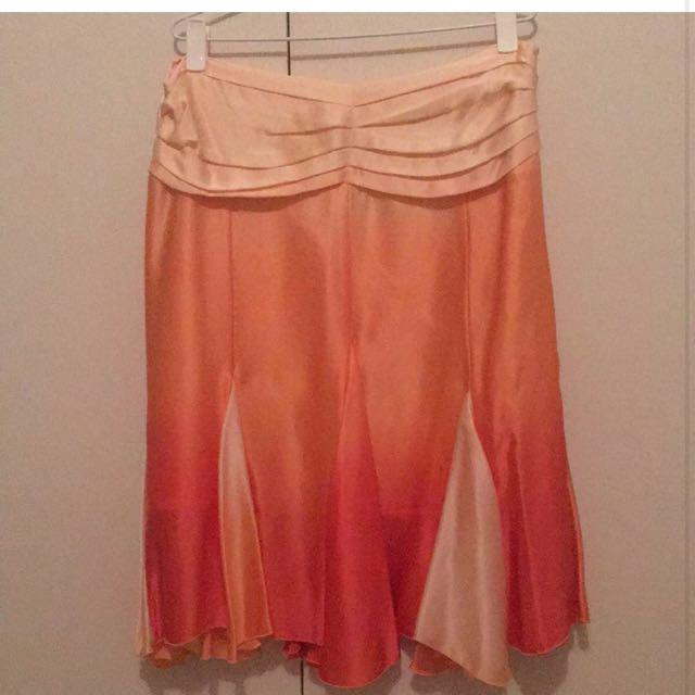 Knee Length Silk Skirt