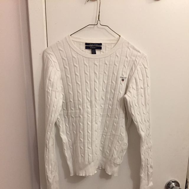 Knit white sweater