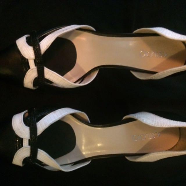 Ladies Black And White Shoes