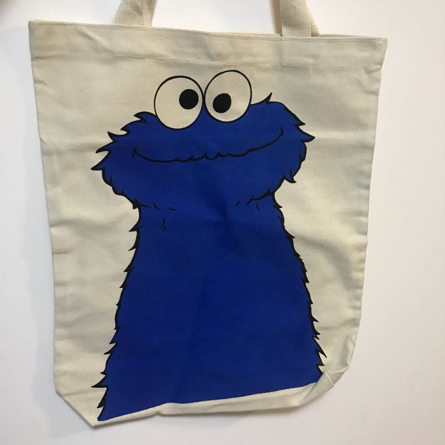 Large Cookie Monster Tote Bag