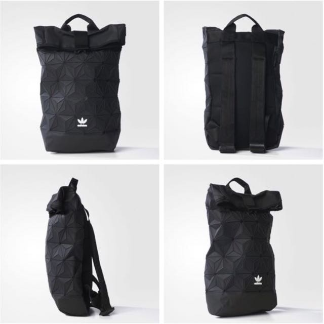 LIMITED  Authentic Adidas Issey Miyake 3D Rolltop Backpack In Black ... d058196c5d8fb