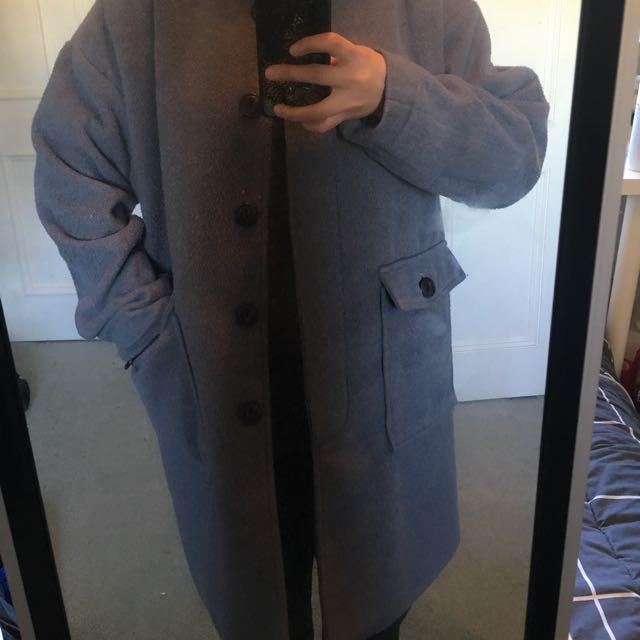 London Bus Long Grey Coat
