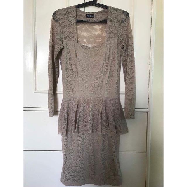 Love Mitzhi Peplum Dress