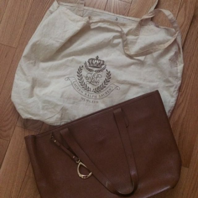 LRL Large leather tote