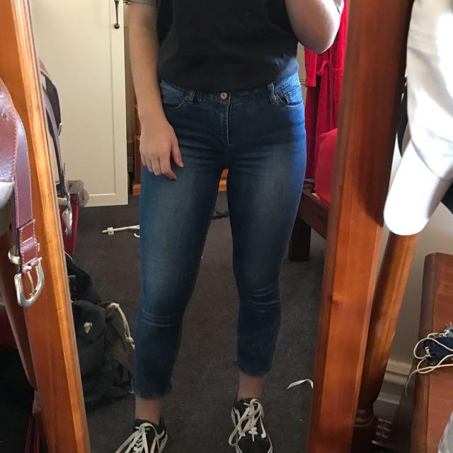 Mid Rise Denim Jeans