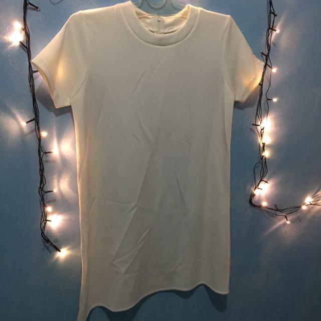 Middle Dress Putih Polos