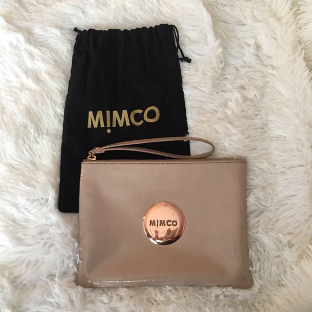 MIMCO Nude Pouch [Beige & Rose Gold]