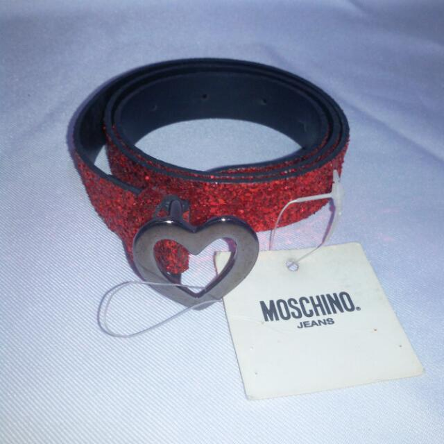 💞Missy's MOSCHINO Red Glittered Belt