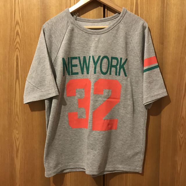 Miu Star 粉紅數字膠印灰色七分袖T恤 #你喜歡我送你 #免購物直接送
