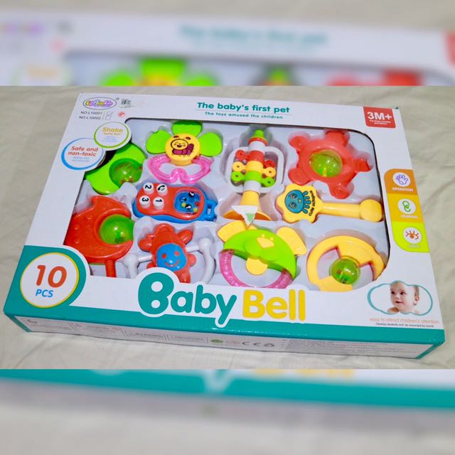 NEW! Baby Bell 10-pc. Set Toys