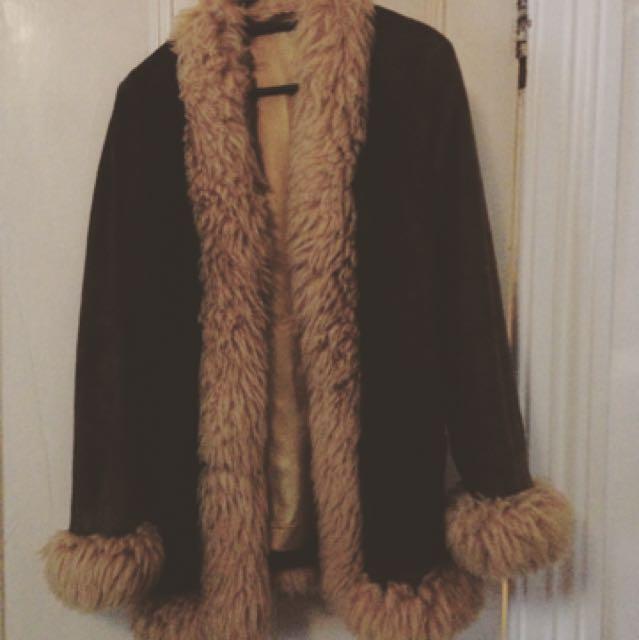 'Penny Lane' Suede Coat