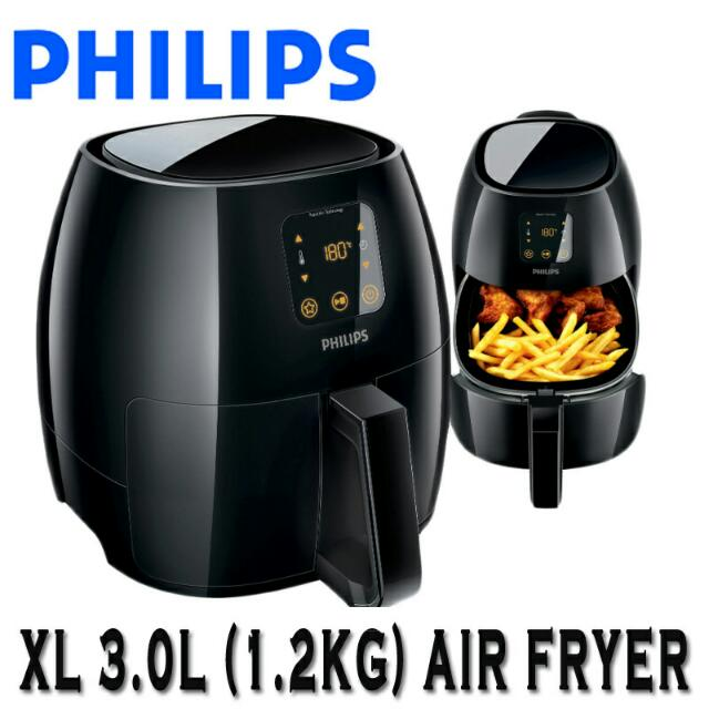 philips airfryer (xl size) with grill pan , home appliances on carousell
