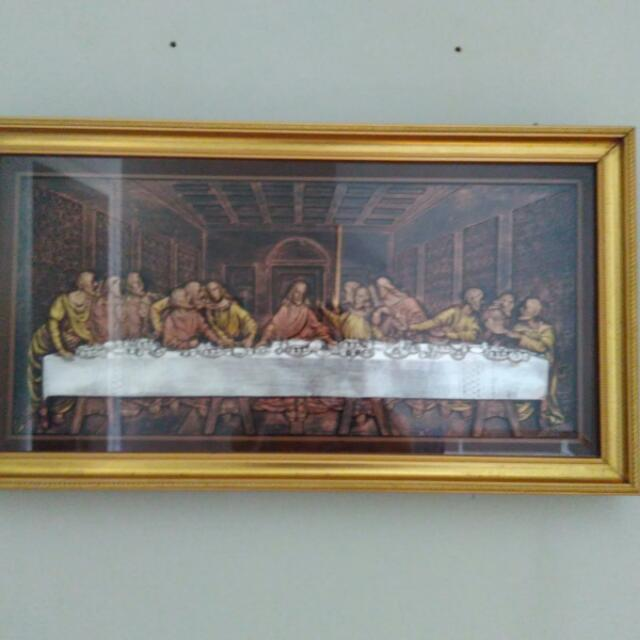 Pigura Tembaga Kuningan The Last Supper