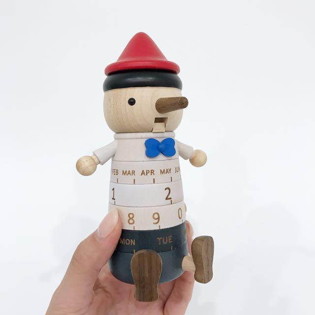 Pinocchio Wooden Calender