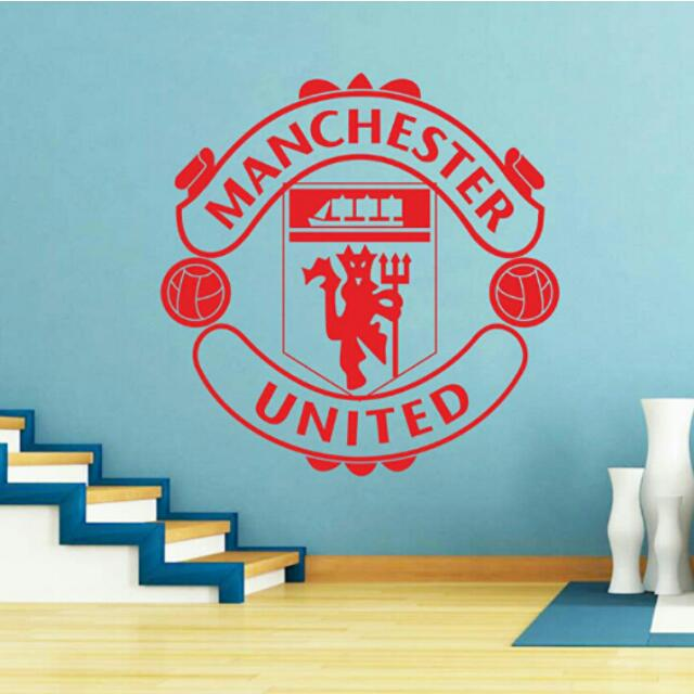 pre-order] wall decals manchester united league team logo decoration