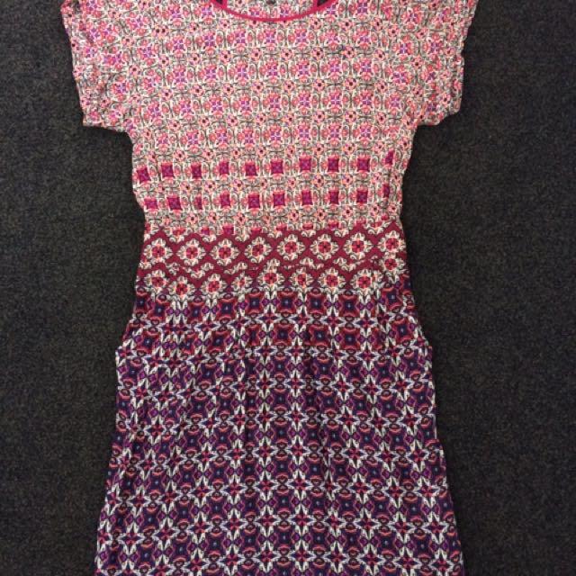 Print Dress From U.K.- Size 10/12