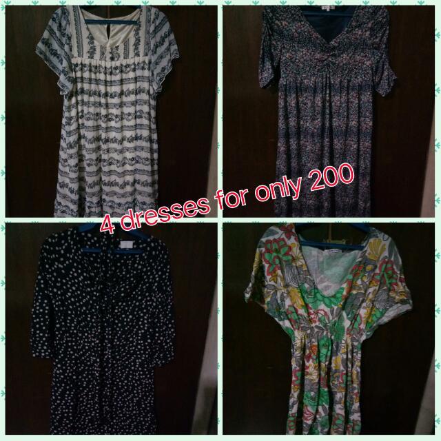 130 for 4 REPRICED!!!preloved dresses
