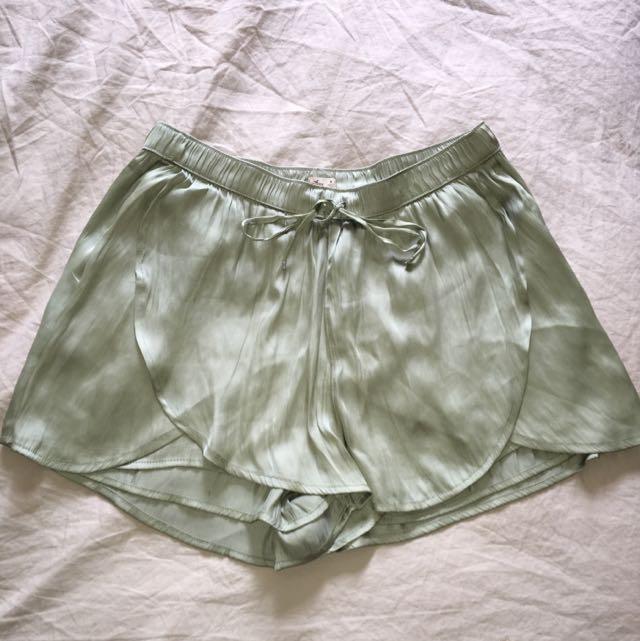 Silk pj shorts