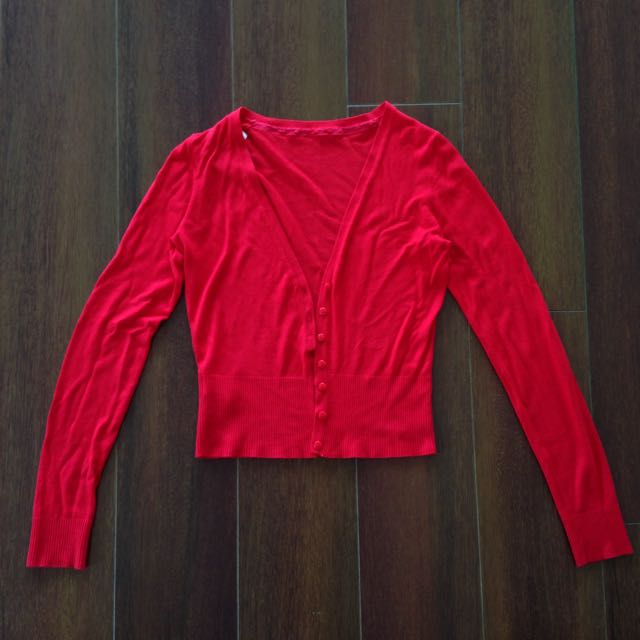 SIZE 8 Red Cardigan From Mango