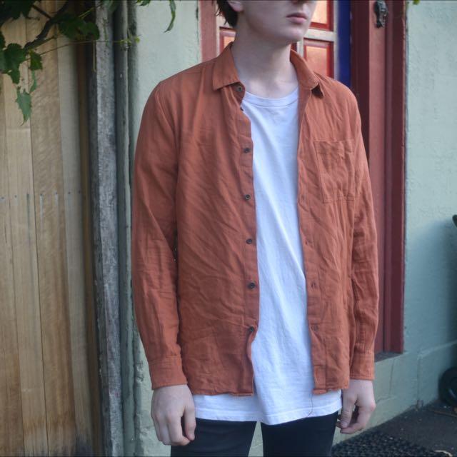 Stussy Burnt Orange Shirt