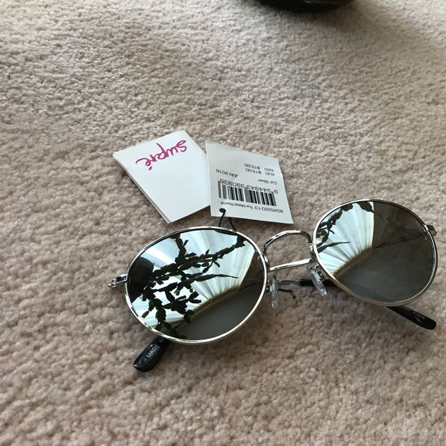 Supre Reflective Silver/black/Chrome  Sunglasses
