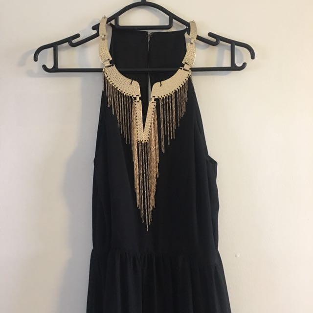 Sz 8 Formal Maxi Dress Black