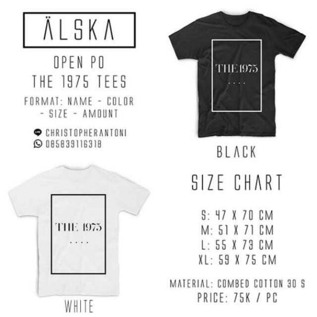 THE 1975 T-SHIRTS