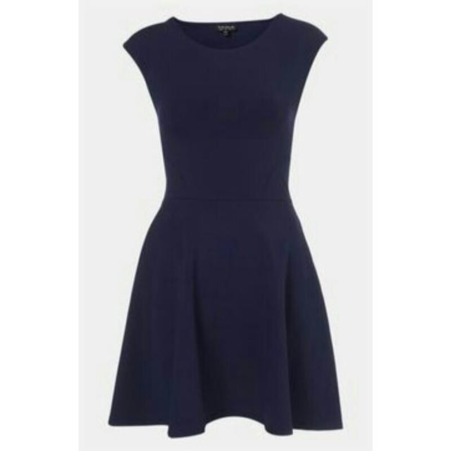 Topshop Blue Skater Dress