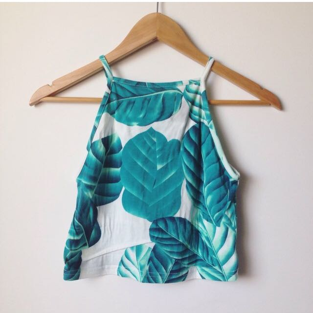 Turquoise Crop Top