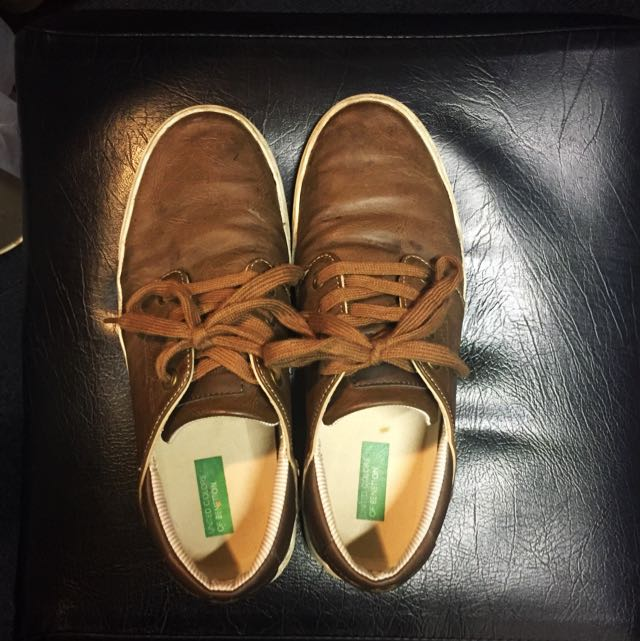 UCB Brown Leather Sneakers