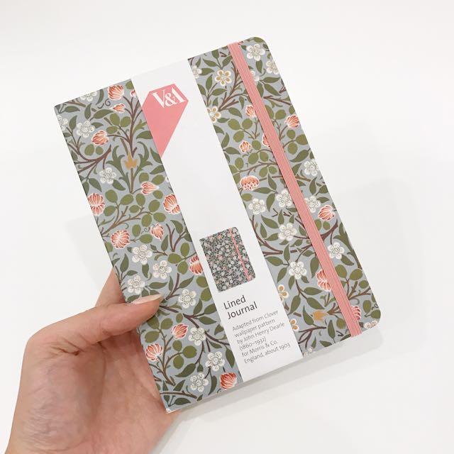V&A Patterned Lined Journal