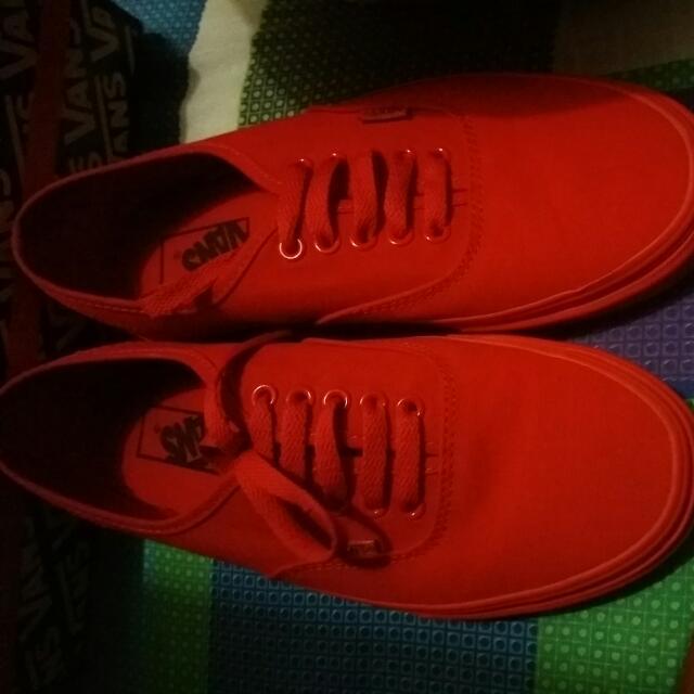 Vans Mono Red