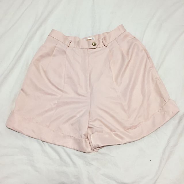 VINTAGE Baby Pink High Waisted Shorts