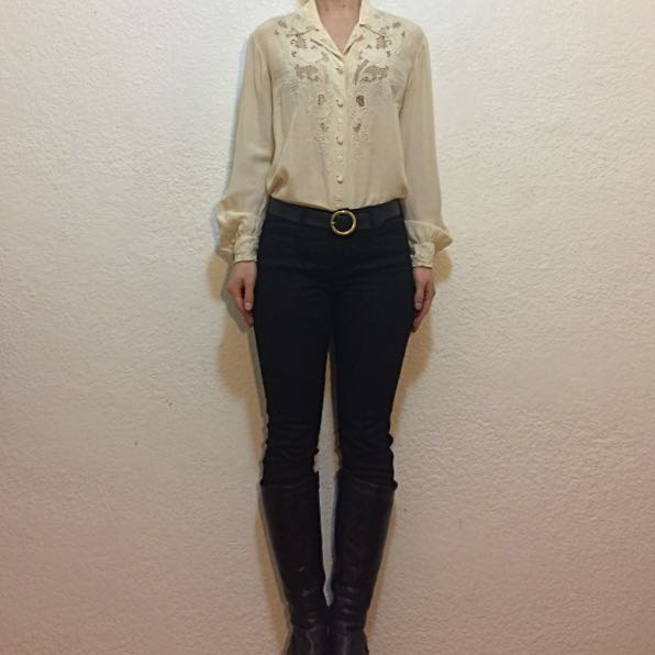Vintage Embroidered Silk Shirt