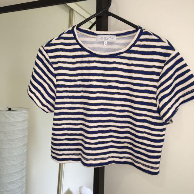 WAYF crop shirt