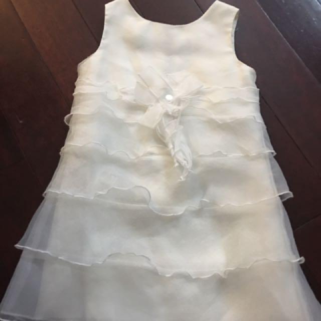 White Chiffon Layered dress And Cupcake Dress