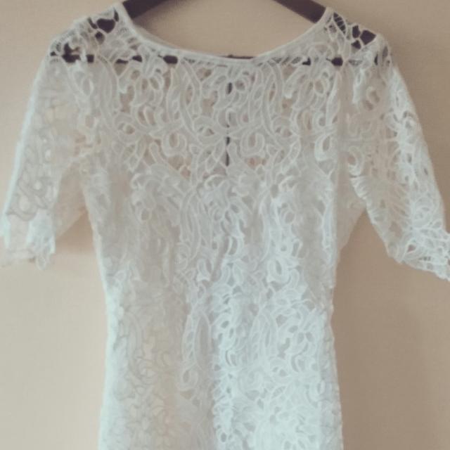 White Lace Dress Medium Size Aus 8