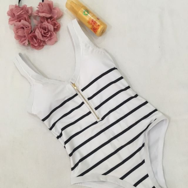 Zip up One Piece Swimwear