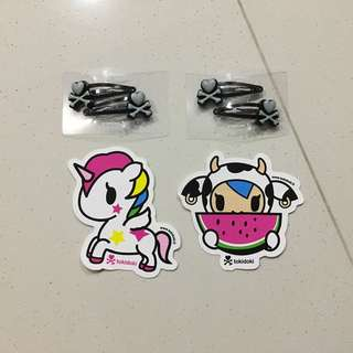 Giveaway: Tokidoki Hair Clips & Stickers